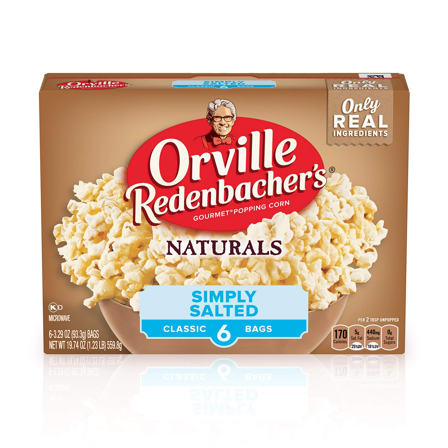 Orville Redenbachers Naturals Popcorn Simply Salted 6-Pack