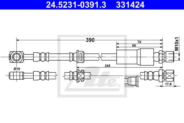 Jarruletku ATE 24.5231-0391.3