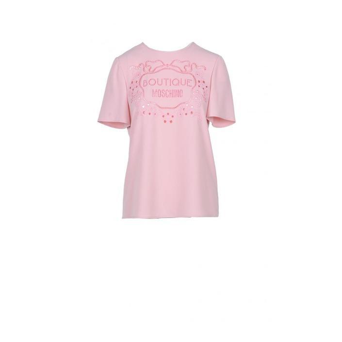 Boutique Moschino Women's T-Shirt Pink 171807 - pink 40