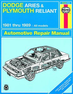 Haynes Reparationshandbok, Dodge Aries & Plymouth Reliant, Universal