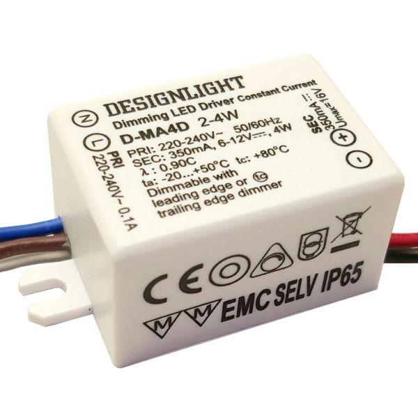 Designlight D-MA4D Liitäntälaite himmennettävä, 2-4 W suorakulmainen