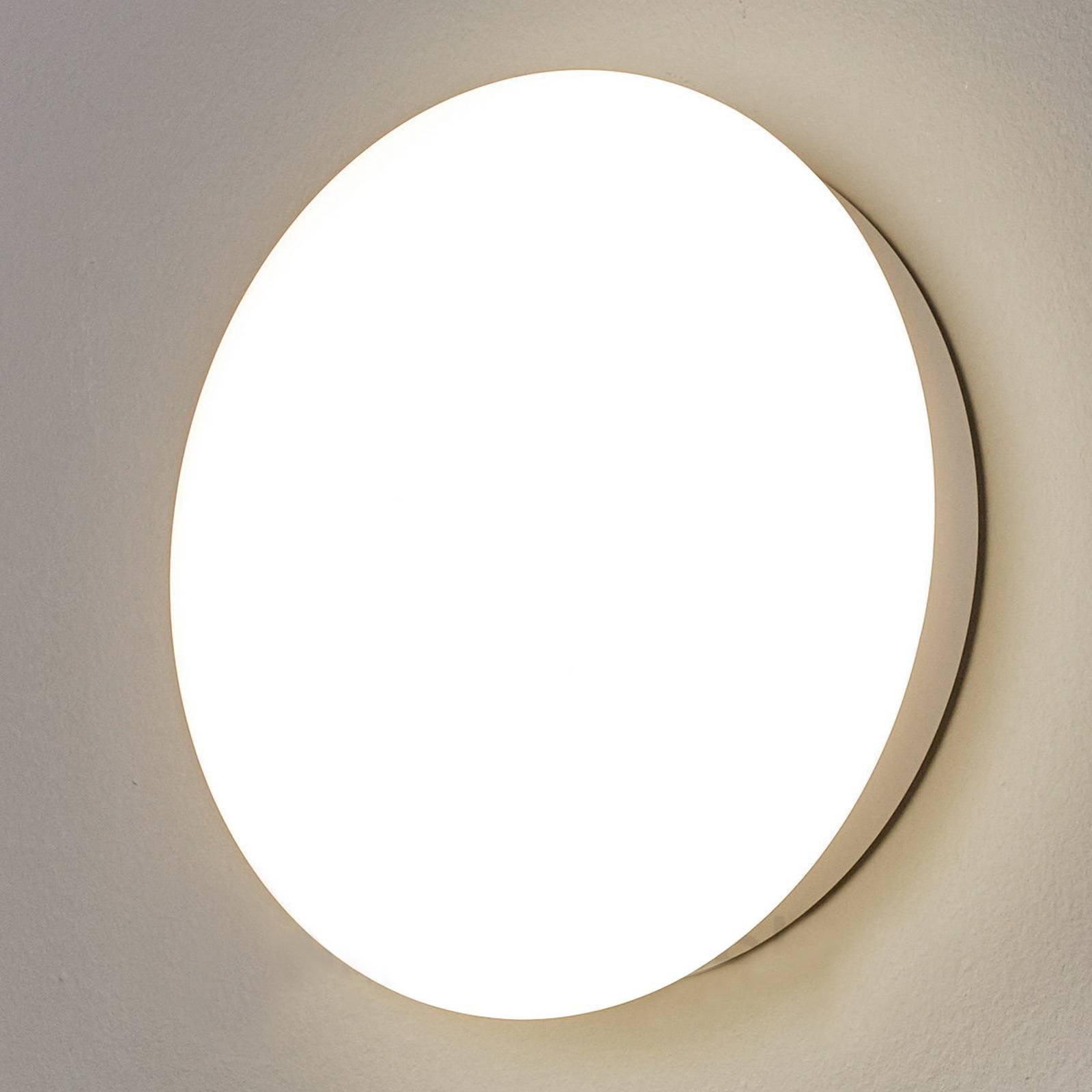 SUN 12 LED-vegglampe, IP55, 8 W, uni-hvitt, 4000 K