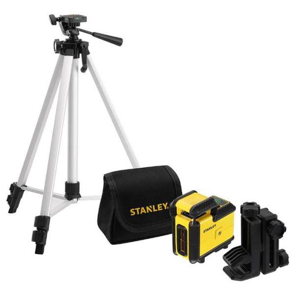 STANLEY 360 Set Krysslaserpakke med grønn laser, stativ og veske