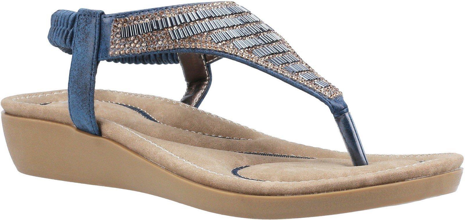 Fleet & Foster Women's Lianne Slip On Sandal Various Colours 30098 - Navy 3