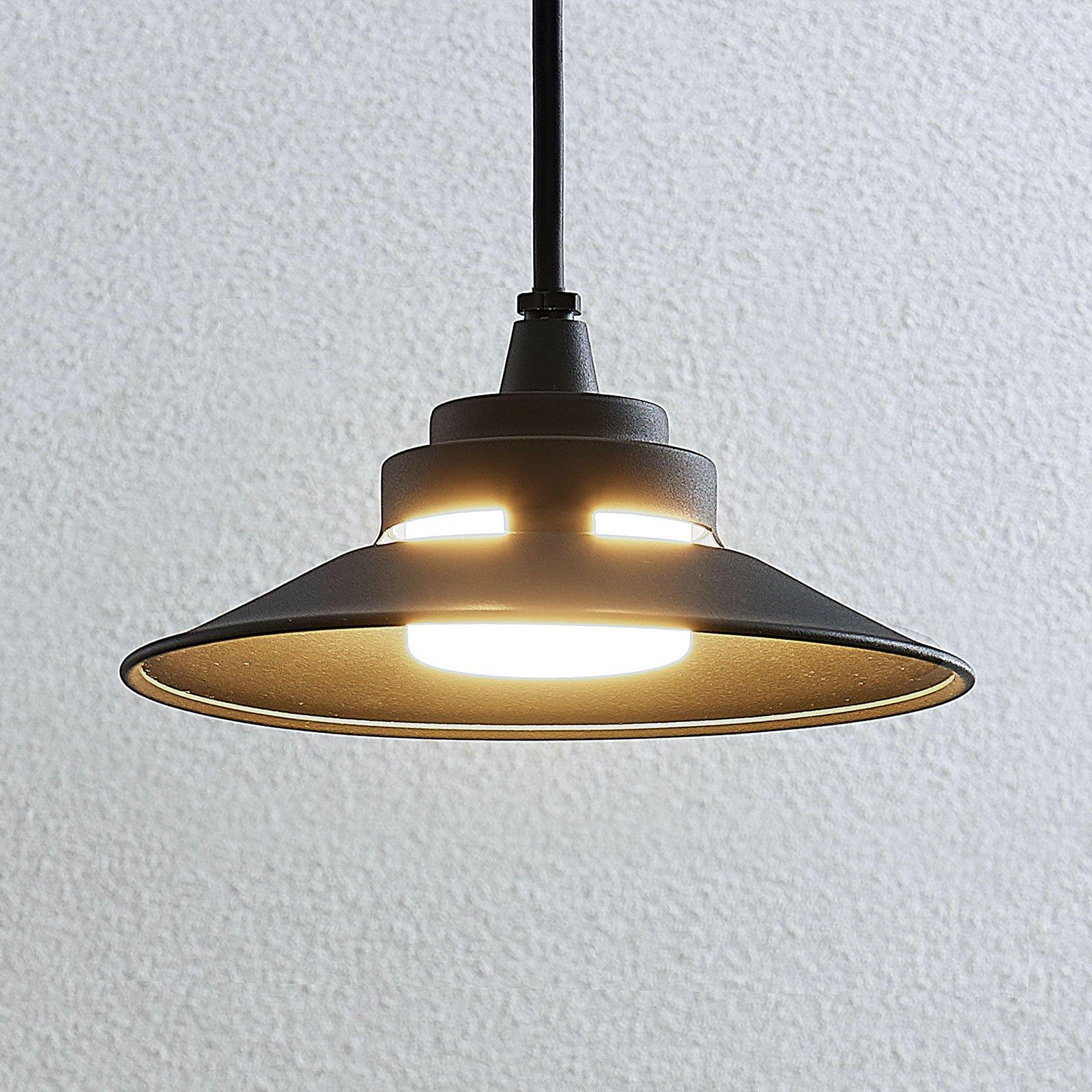 Utendørs LED-vegglampe Cassia, mørkegrå