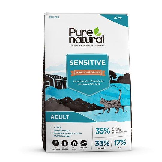 Purenatural Cat Sensitive Pork & Wild Boar (10 kg)