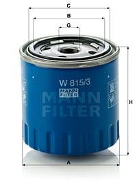 Öljynsuodatin MANN-FILTER W 815/3