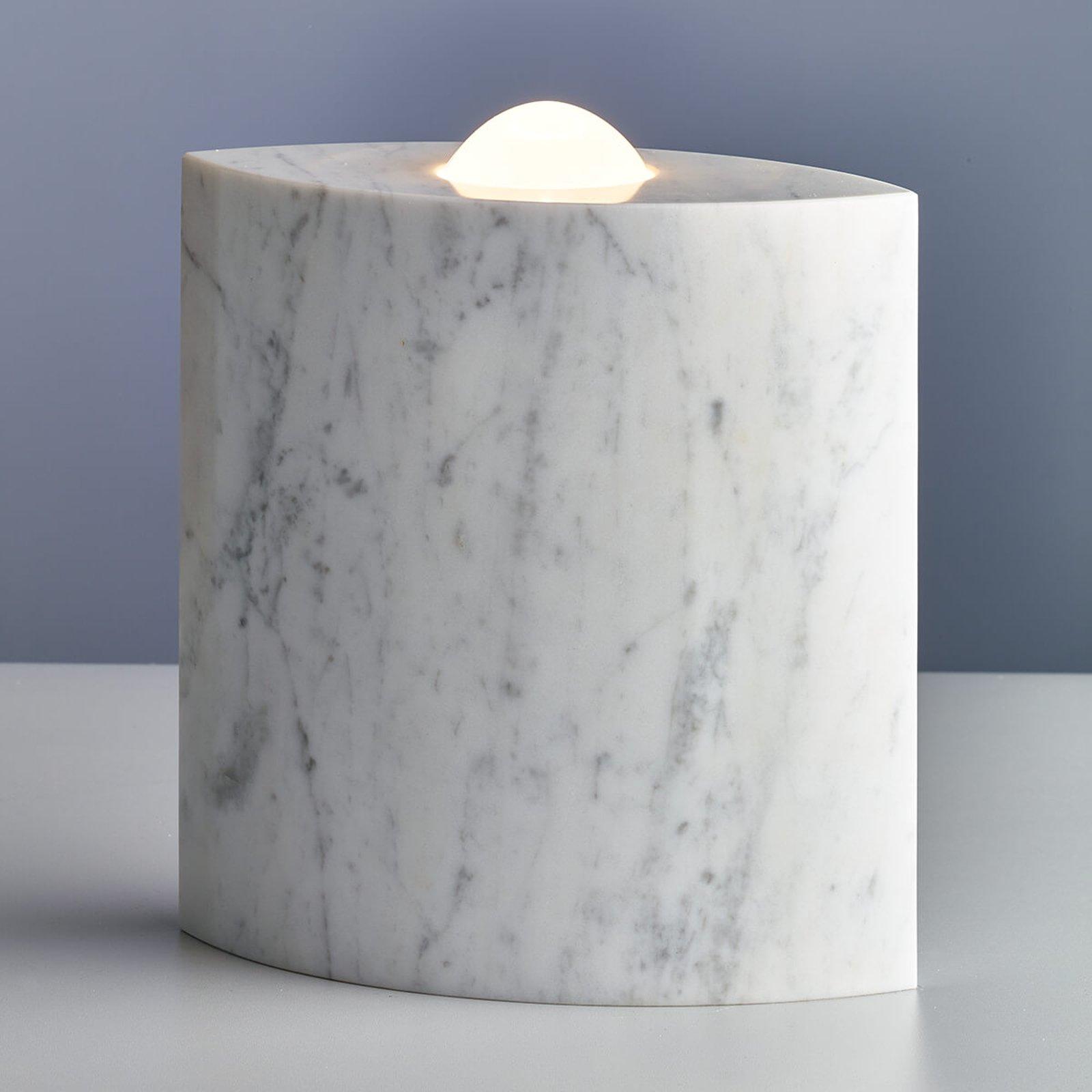 Egyptian Eye - gulvlampe av marmor med dimmer