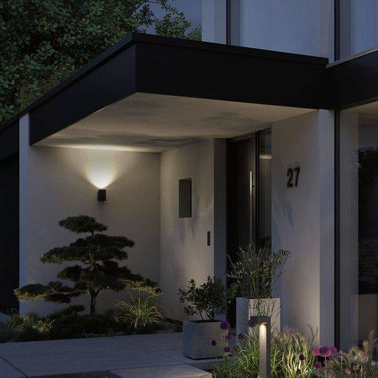 Paulmann Concrea utendørs LED-vegglampe sylindrisk