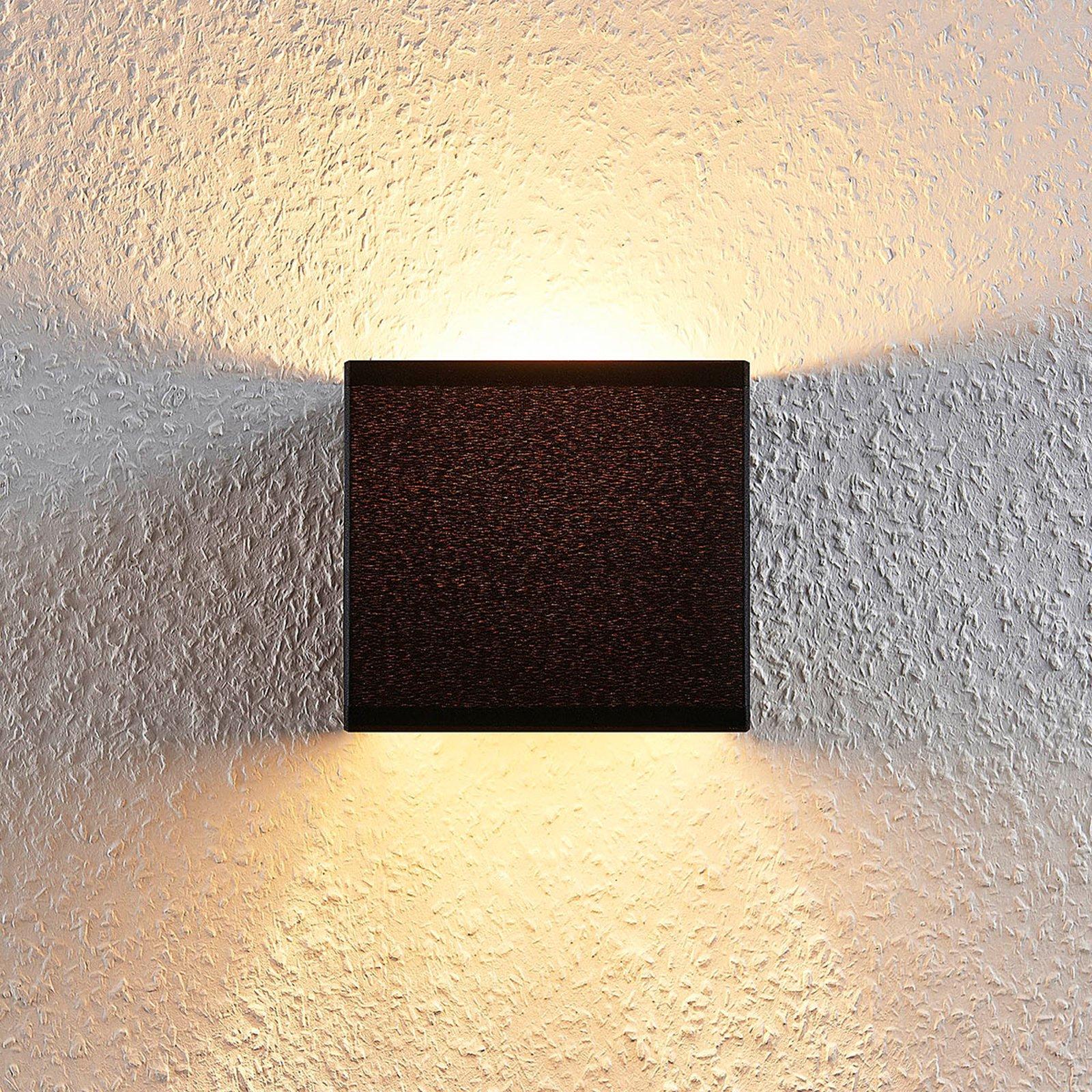 Adea stoff-vegglampe med bryter, 13 cm, svart