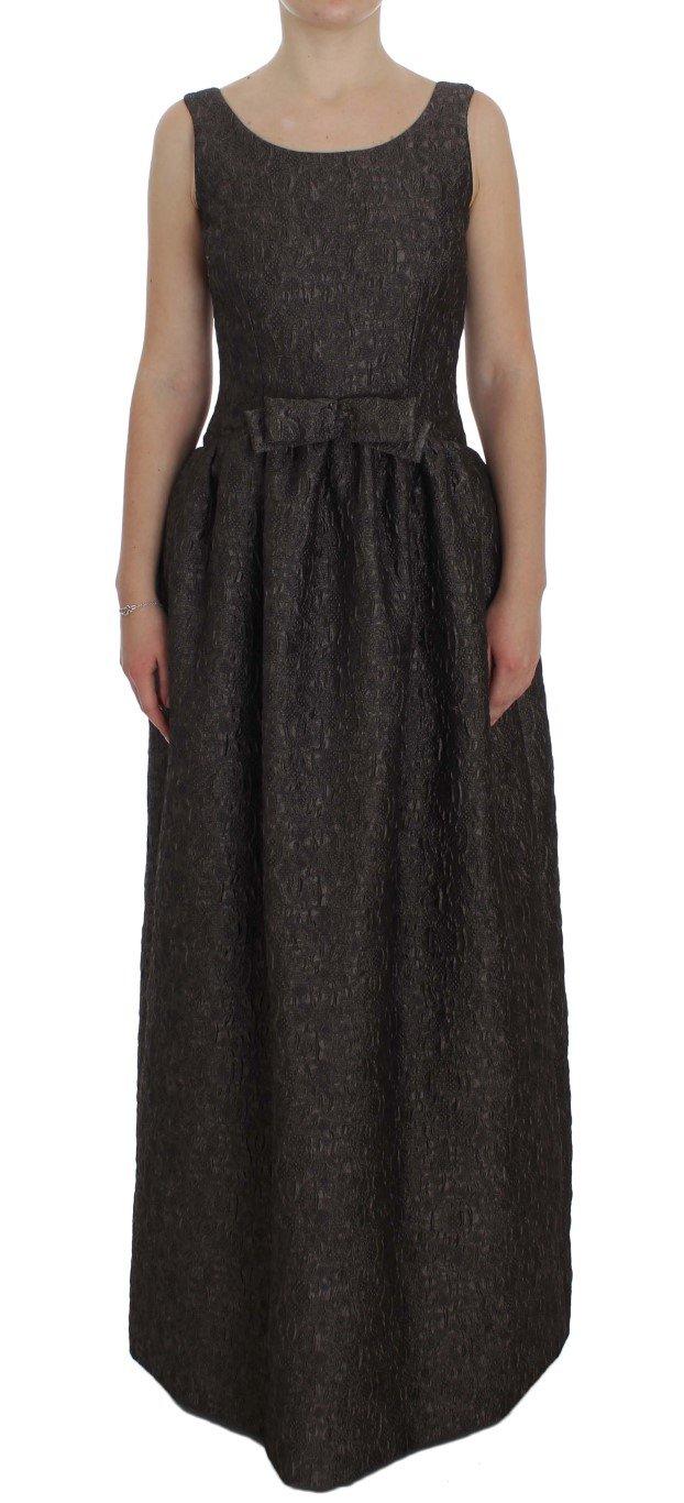 Dolce & Gabbana Women's Brocade Sheath Full Length Gown Dress Gray NOC10157 - IT40|S