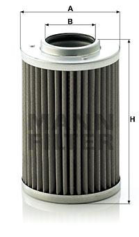 Hydrauliikkasuodatin, automaattivaihteisto MANN-FILTER H 710/1 z