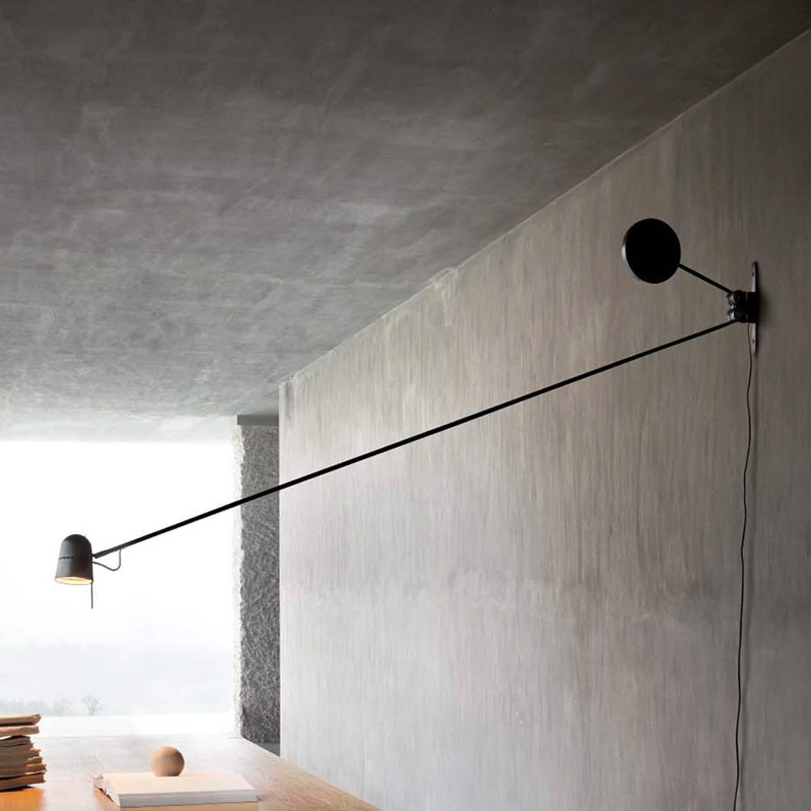 Eksklusiv LED-vegglampe Counterbalance svart