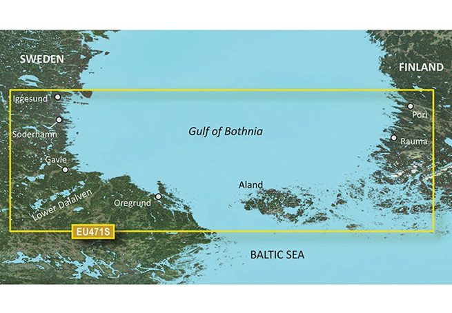 Garmin Gulf of Bothnia, South Garmin VEU471S - BlueChart g3 Vision mSD/SD