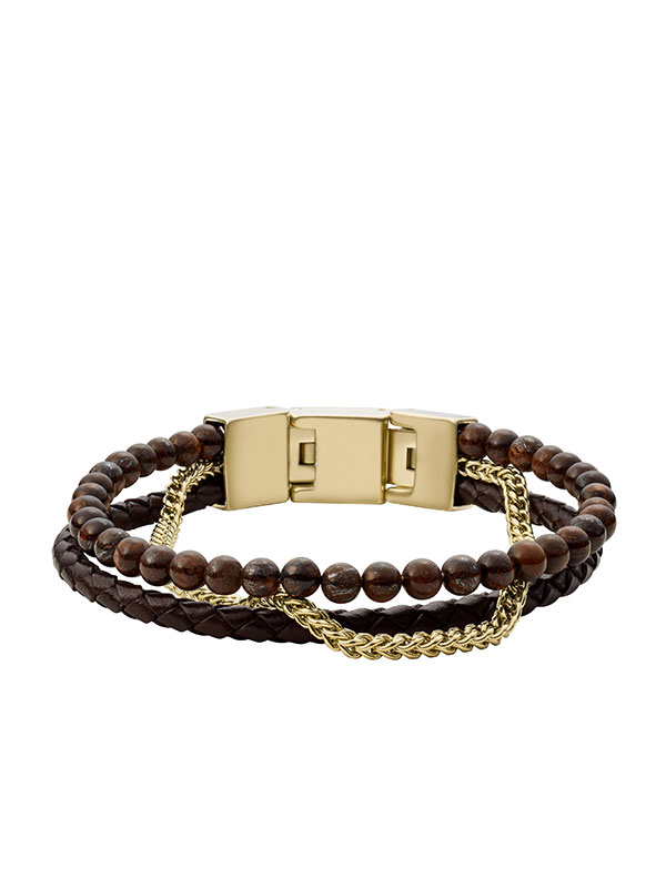 FOSSIL Armband Vintage Casual - Brun JF03849710