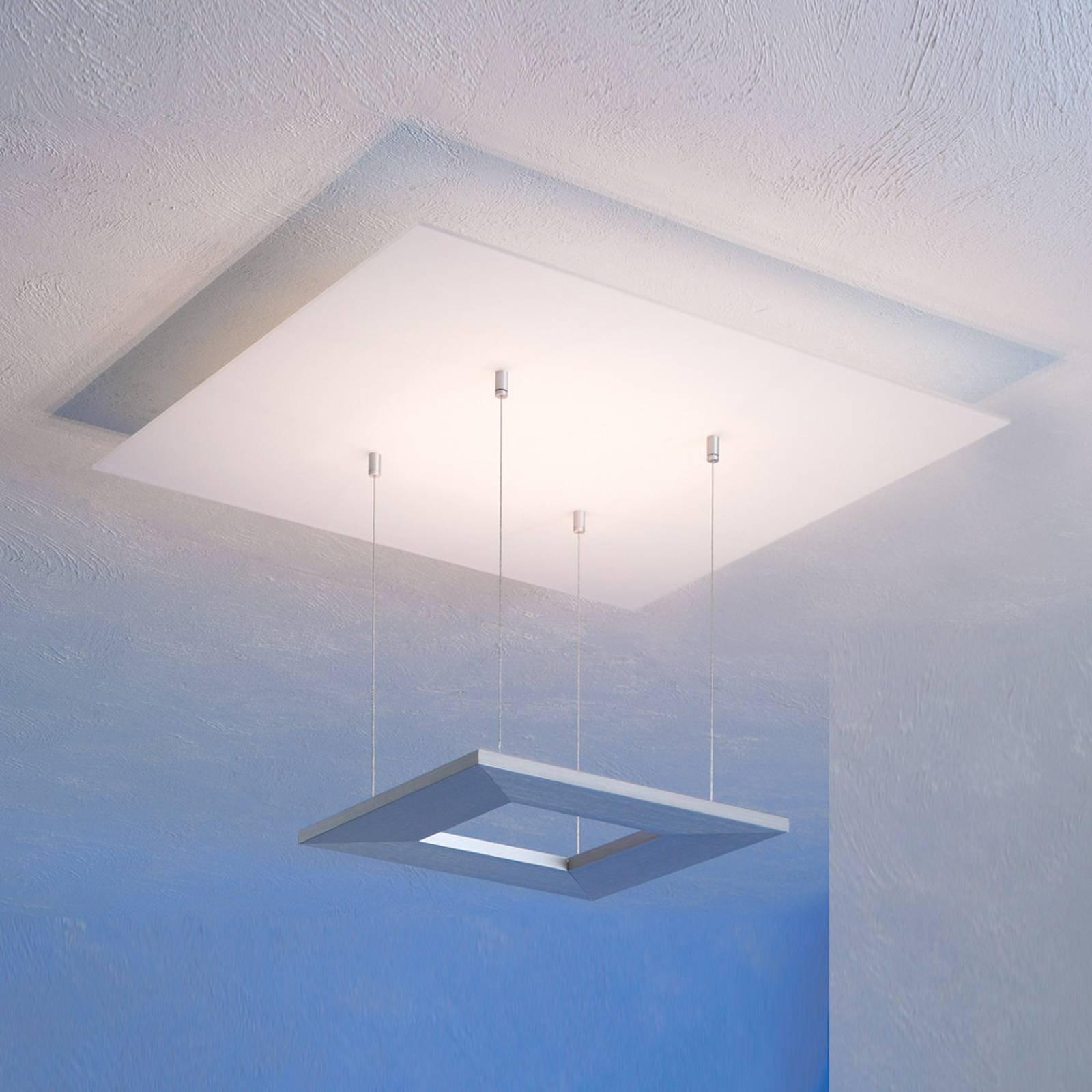 Escale Zen – LED-taklampe, 60 cm, aluminium