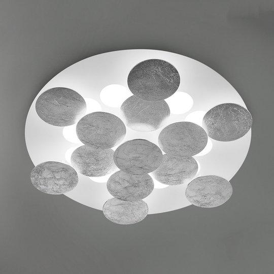 Lehtihopeinen – LED-kattolamppu Nuvola