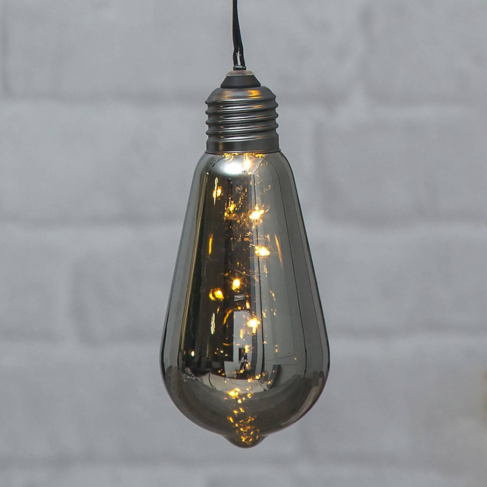 Glow-vintage-LED-koristevalo ajastimella, savu