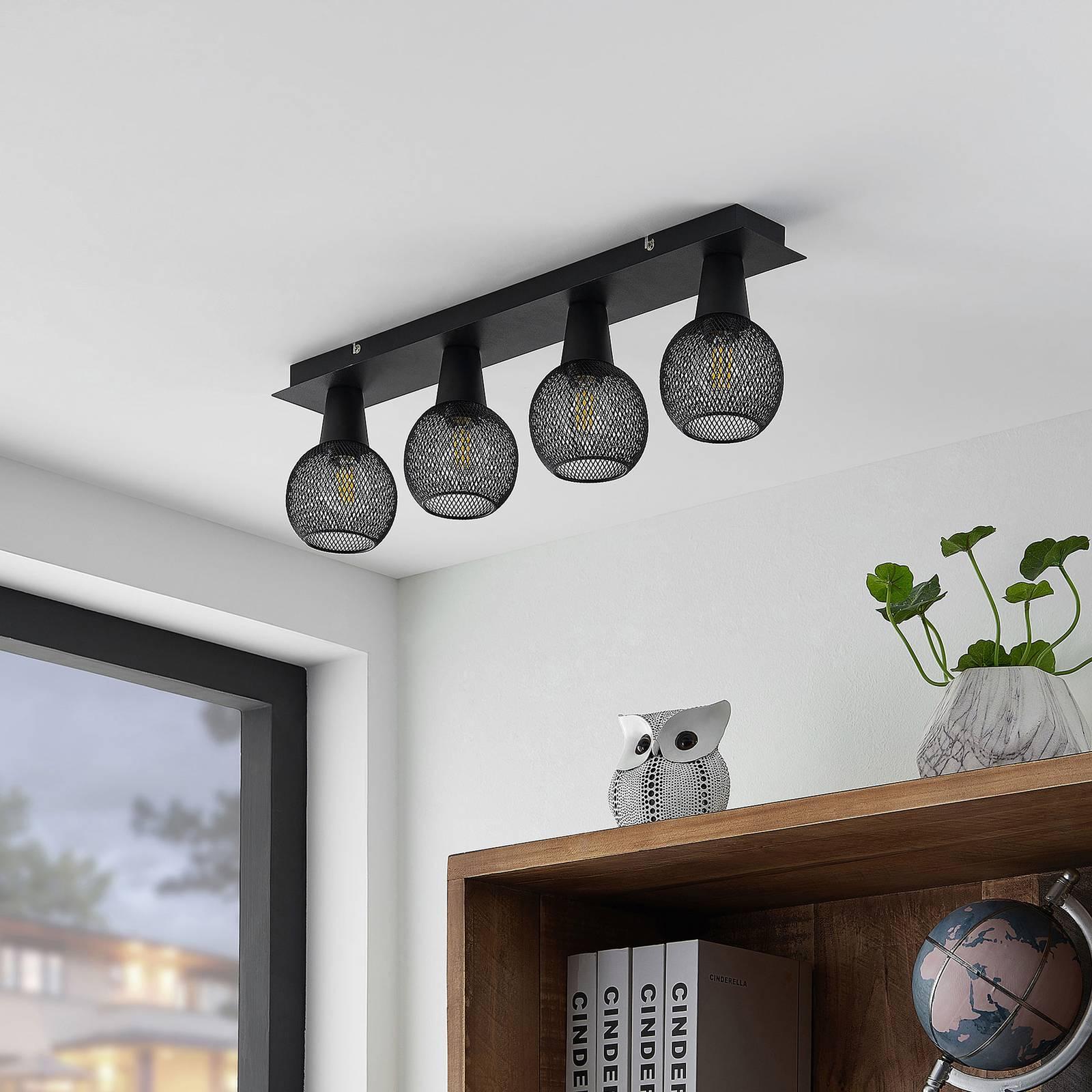 Lindby Zerda-kattovalaisin, ristikko, 4-lamppuinen