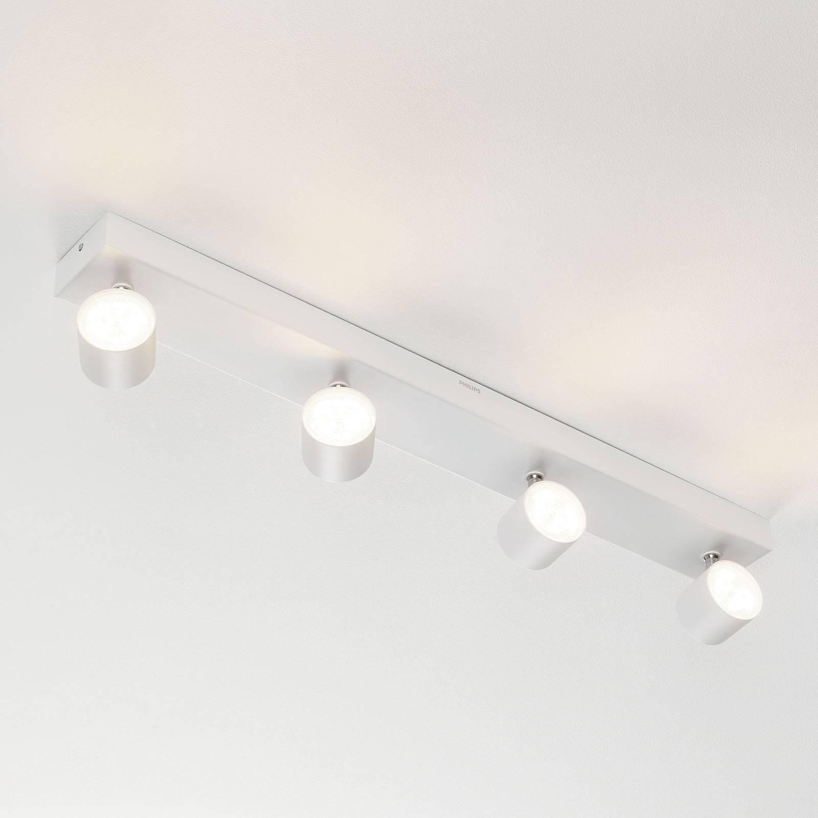 Star – 4-os. LED-kattospotti, valkoinen, WarmGlow