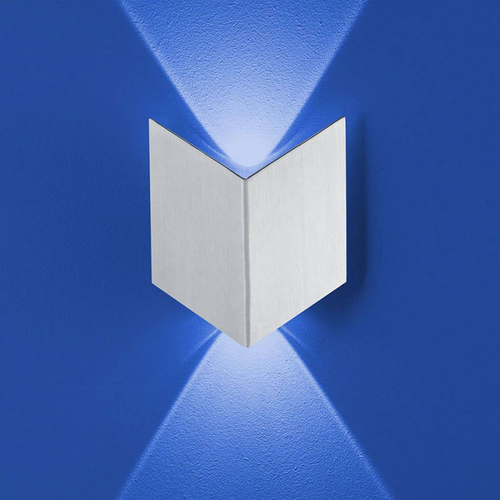 B-Leuchten Prince vegglampe IP54, foldet optikk