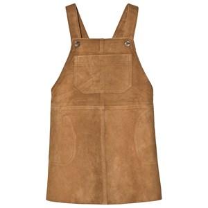 Bonpoint Leather Hängselklänning Brun 12 years