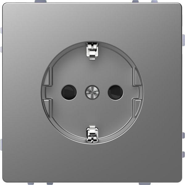 Schneider Electric MTN2300-6036 Vekkuttak 1-veis, jordet Sølv