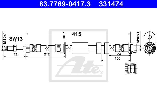 Jarruletku ATE 83.7769-0417.3