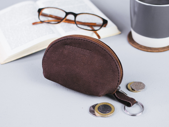 Pocket Keyring Pouch Brown