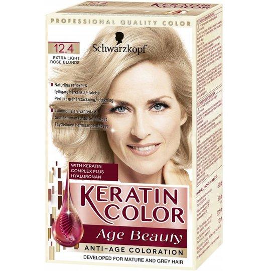 """Hårfärg """"Keratin Color 12.4 Extra Light Rose"""" - 38% rabatt"""