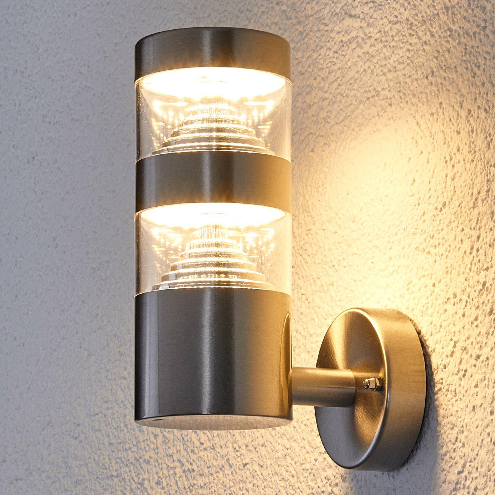 LED-utendørs vegglampe Lanea rett