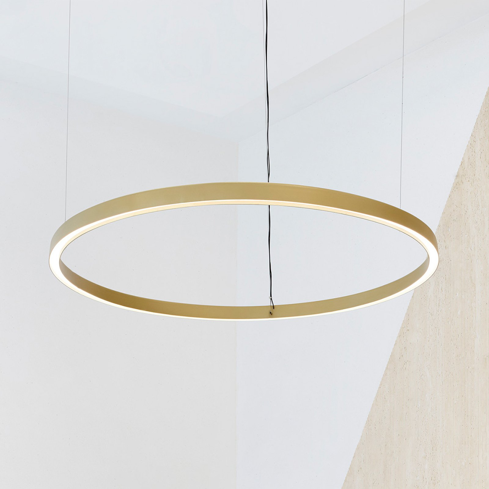 Luceplan Compendium Circle 110 cm, messing