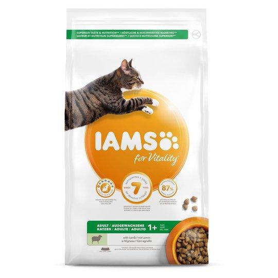 Iams for Vitality Cat Adult Lamb (10 kg)