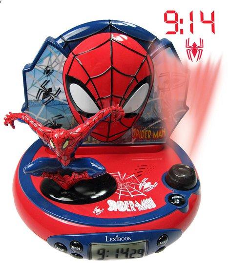 Marvel Spider-Man Projektorklokke Med Lyd