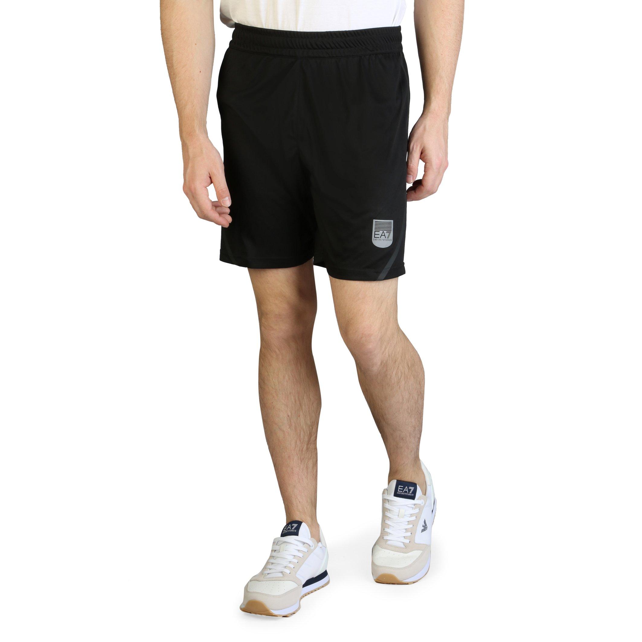 EA7 Men's Short White 3GPS66_PJH6Z - black S