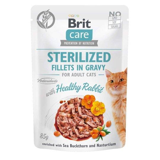 Brit Care Cat Adult Sterilized Kanin i Sås 85 g