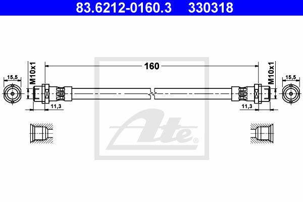 Jarruletku ATE 83.6212-0160.3