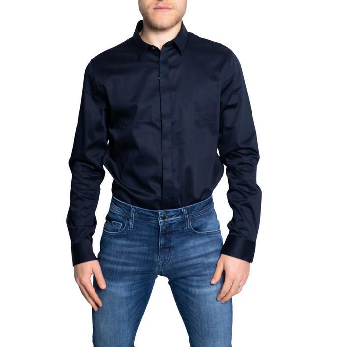 Armani Exchange Men's Shirt Blue 189766 - blue S