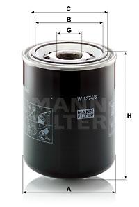 Öljynsuodatin MANN-FILTER W 1374/6