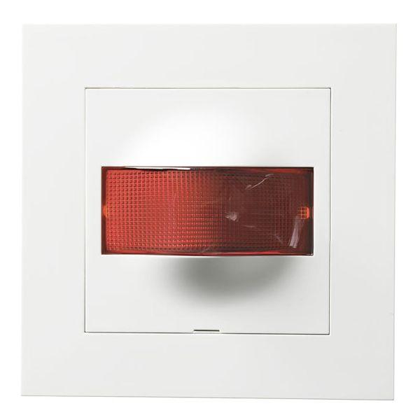 Elko Plus Markeringslys hvit ramme Rød