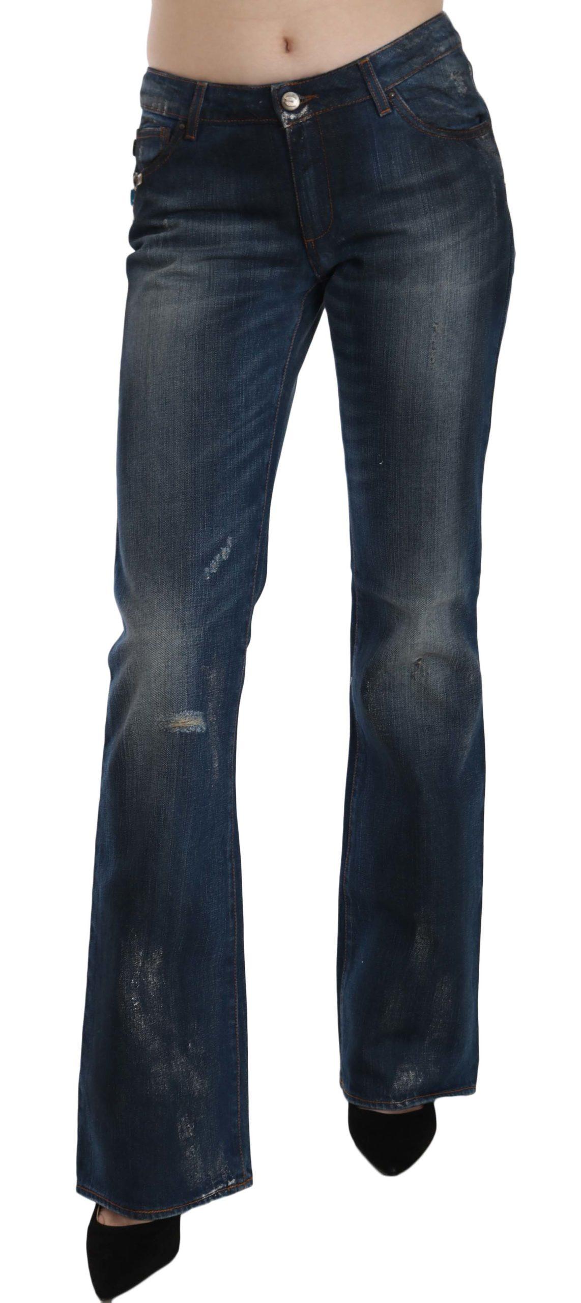Just Cavalli Women's Mid Waist Boot Cut Denim Trouser Blue PAN70370 - W26