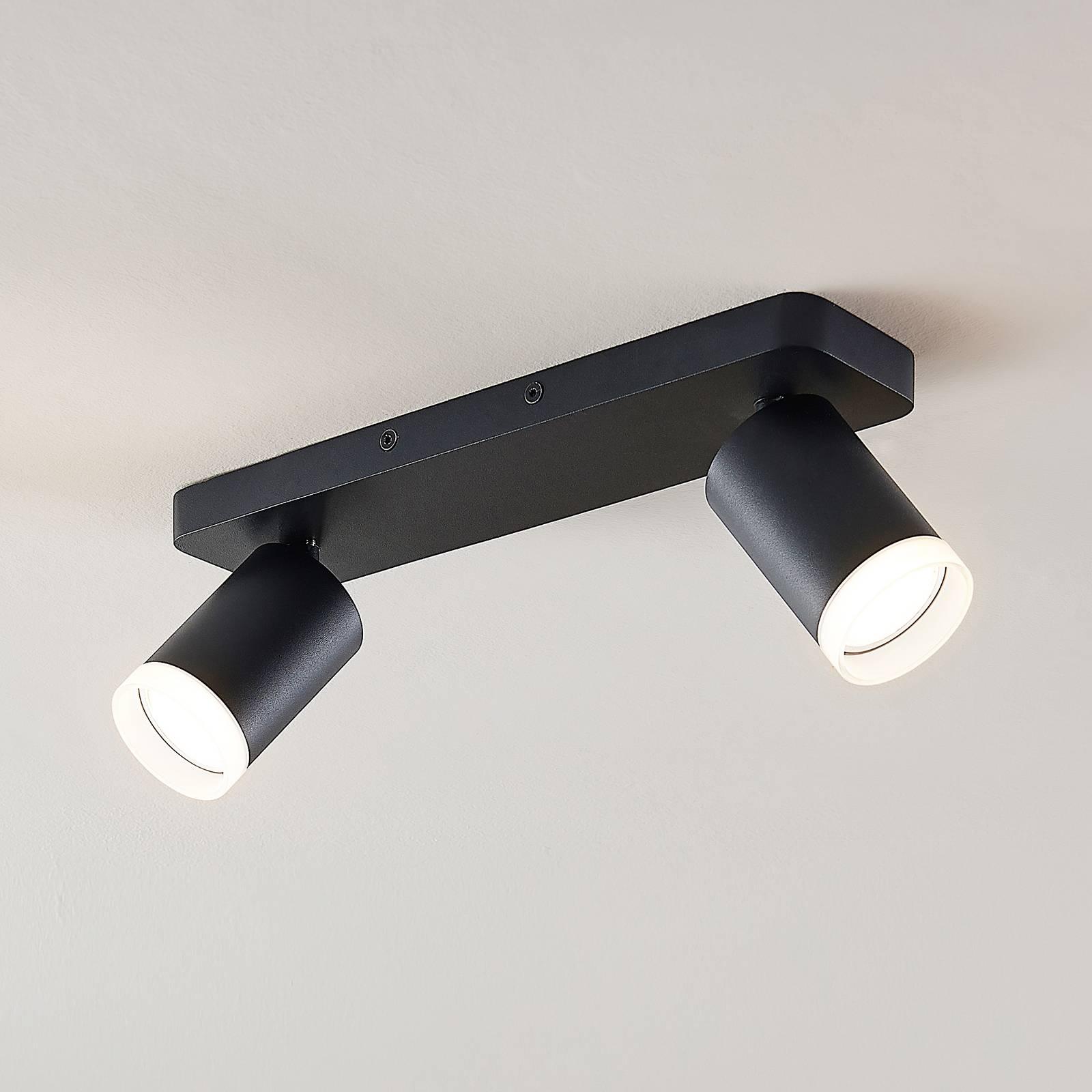 Arcchio Efilius -kattospotti 2-lamppuinen musta
