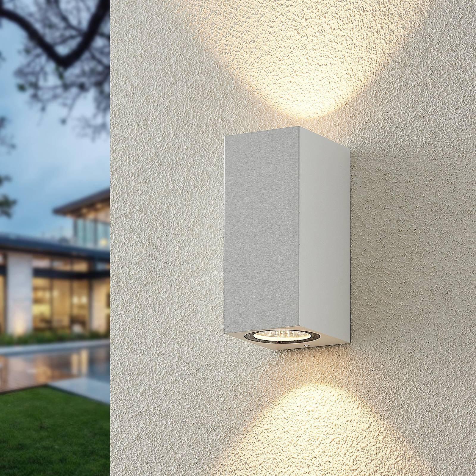 ELC Lanso utendørs LED-vegglampe, hvit