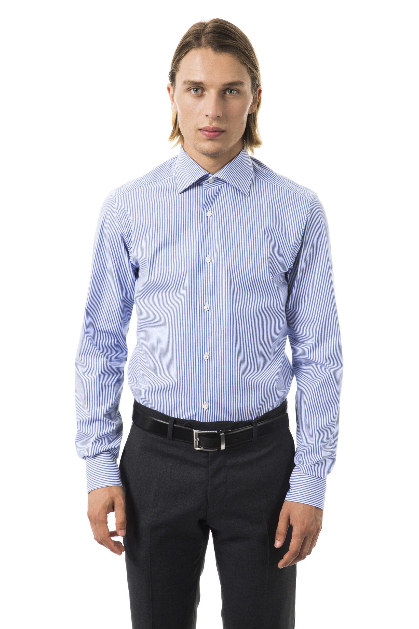 Uominitaliani Men's Azzurro Shirt Light Blue UO1394658 - M