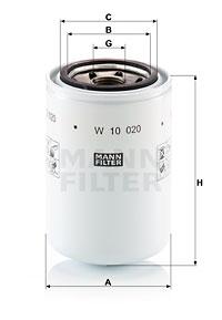 Öljynsuodatin MANN-FILTER W 10 020