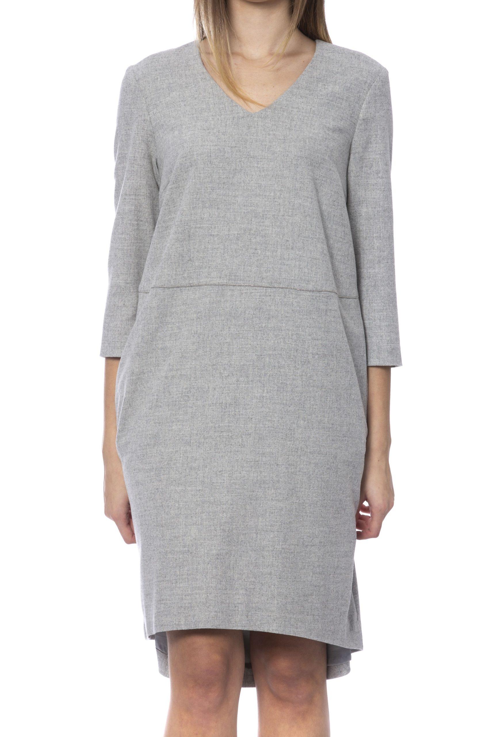 Peserico Women's Dress Grey PE993242 - IT42 | S