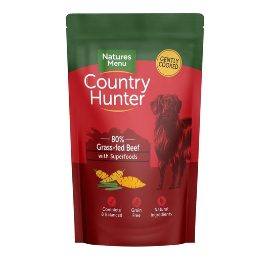 Natures:menu Country Hunter Dog Grass Glazed Beef 150 g