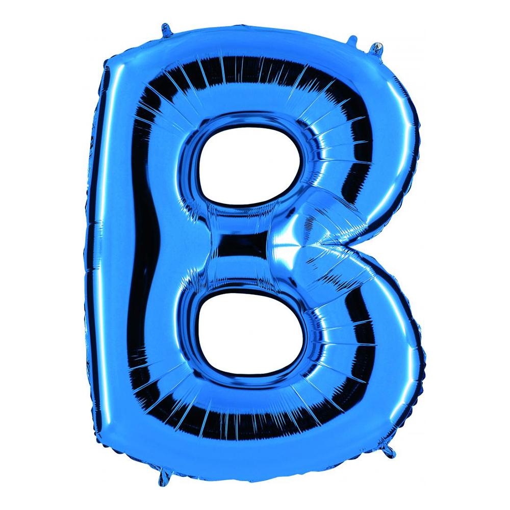 Bokstavsballong Blå Metallic - Bokstav B