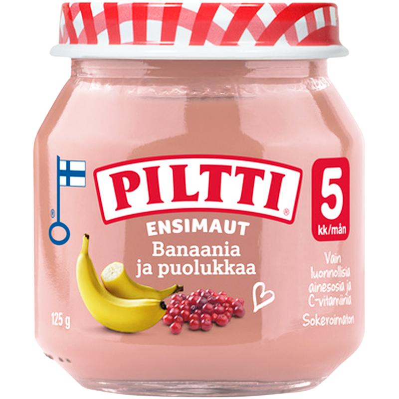 Hedelmäsose Banaani & Puolukka - 18% alennus