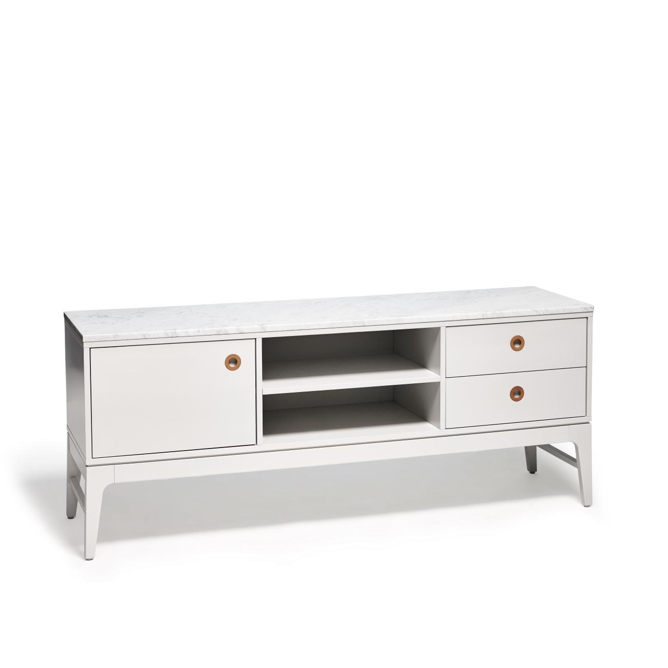 Höllviken TV-bänk 150 cm grå / marmor Mavis